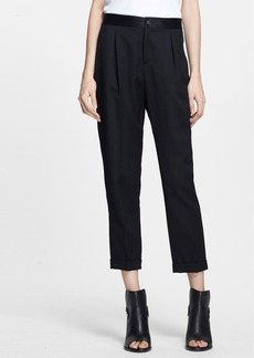 rag & bone 'Em' Slim Wool Crop Pants