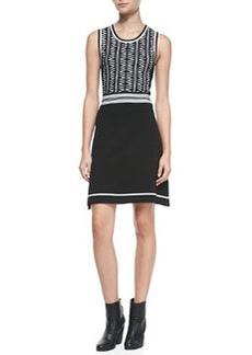 Rag & Bone Erin Sleeveless Two-Tone Dress