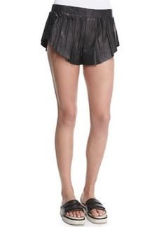 Rag & Bone Goa Leather Pleated Shorts