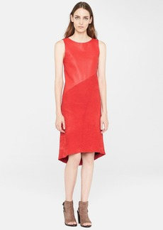 rag & bone 'Gracie' Sleeveless Leather & Suede Dress