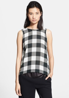 rag & bone 'Harper' Check Silk Top