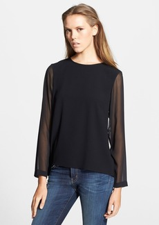 rag & bone 'Harper' Sheer Detail Ponte Top