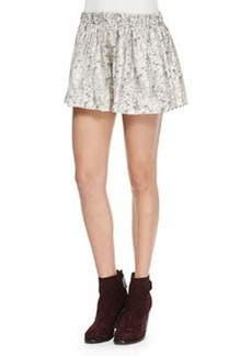 Rag & Bone Holten Printed Silk Twill Shorts