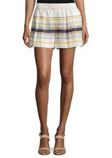 Rag & Bone Holten Striped Flared Shorts