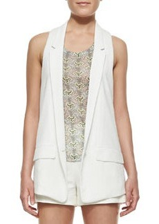 Rag & Bone Ines Texture-Trim Crepe Vest (Stylist Pick!)