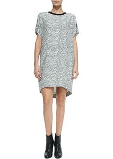 Rag & Bone Lafayette Graphic Lace-Print Silk Shift Dress