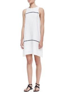 Rag & Bone McKenzie Contrast-Stripe Sleeveless Dress