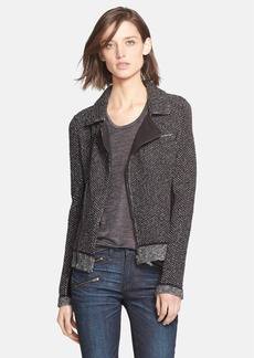 rag & bone 'Melinda' Metallic Knit Biker Jacket
