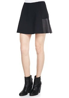 Rag & Bone Montrose Flared Leather-Panel Skirt (Stylist Pick!)