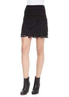Rag & Bone Nancy Jersey Lace-Overlay Skirt