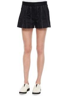 Rag & Bone Pico Striped Pleated Shorts, Navy