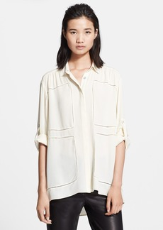 rag & bone 'Sally' Oversize Silk Shirt