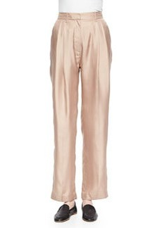 Rag & Bone Sally Pleated Wide-Leg Shantung Pants
