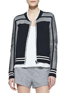 Rag & Bone Sammi Jersey Zip-Front Jacket