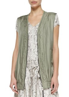 Rag & Bone Shiny Twill Zigzag Vest