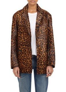 Rag & Bone Sigrid Dyed Leopard-Print Coat