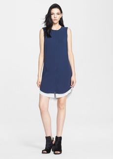 rag & bone Sleeveless Crepe Shirtdress
