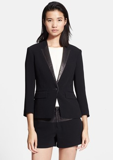 rag & bone 'Smith' Leather Trim Tuxedo Jacket