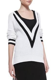 Rag & Bone Talia Plunging V-Neck Ribbed Sweater