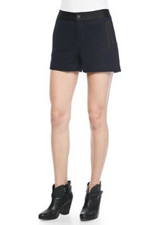 Rag & Bone Tatiana Leather-Trim Shorts