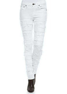 Rag & Bone The Skinny Destroyed Mid-Rise Jeans