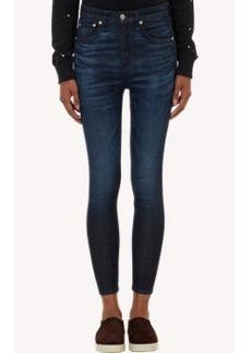 Rag & Bone Whiskered Ankle-Zip Skinny Jeans