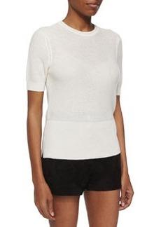 Rag & Bone Whitney Short-Sleeve Cashmere Top