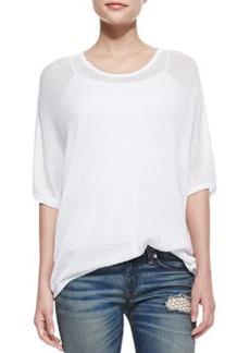 rag & bone/JEAN Bobbie Oversize Pattern-Stripe Top