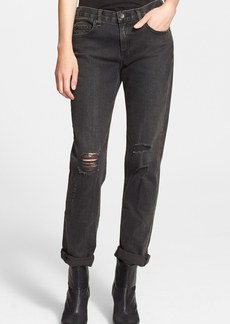 rag & bone/JEAN Boyfriend Jeans (Rock with Holes)