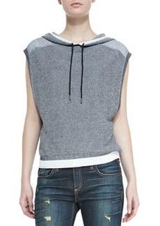 rag & bone/JEAN Brenda Cap-Sleeve Knit Hoodie