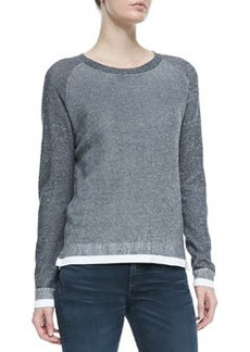 rag & bone/JEAN Brenda Combo-Knit Crewneck Sweater