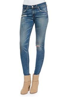 rag & bone/JEAN Brunswick Distressed Skinny Jeans, Blue