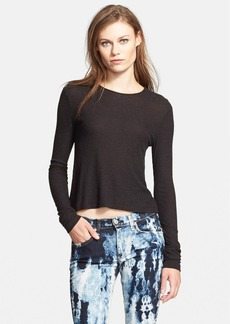 rag & bone/JEAN Crop Long Sleeve Tee
