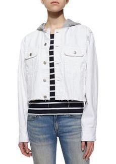 rag & bone/JEAN Cropped Boyfriend Denim Jacket, White Selvage