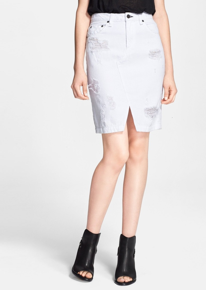 rag bone rag bone jean denim skirt shredded white