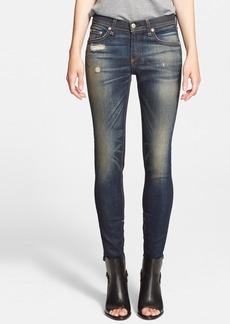 rag & bone/JEAN Destroyed Skinny Ankle Jeans (Mateos)