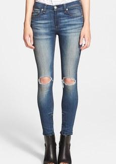 rag & bone/JEAN Destroyed Skinny Ankle Jeans (Pacifico)