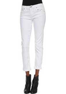 rag & bone/JEAN Dre Slim Boyfriend Jeans, Aged Bright White