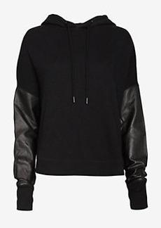 rag & bone/JEAN EXCLUSIVE Leather Sleeve Sweatshirt
