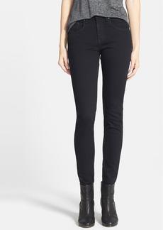rag & bone/JEAN High Rise Skinny Stretch Jeans (Coal)
