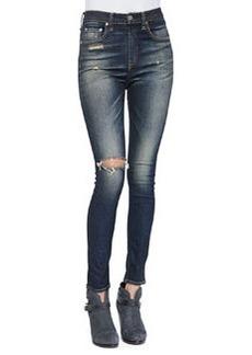 rag & bone/JEAN Justine High-Rise Skinny Jeans, Mateos