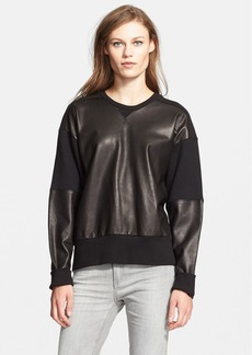 rag & bone/JEAN 'Meryl' Mixed Media Sweatshirt