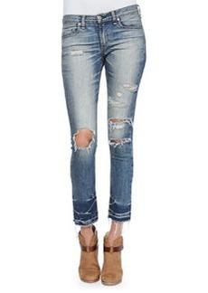 rag & bone/JEAN Mid-Rise Distressed & Cropped Jeans, Ensenada