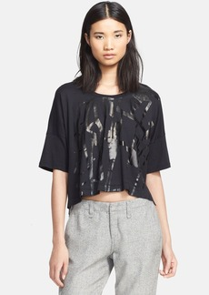 rag & bone/JEAN 'Noah' Graphic Oversized Crop Tee