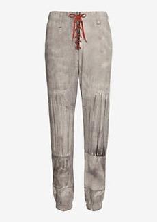 rag & bone/JEAN Quarterback Jersey Print Pajama Jean: Grey