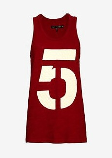 rag & bone/JEAN Quilted #5 Tank: Red