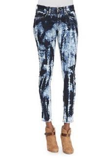 rag & bone/JEAN Rivera Skinny Tie-Dyed Jeans, Blue