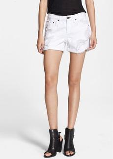 rag & bone/JEAN 'The Boyfriend' Distressed Shorts (Rebel Bright White)