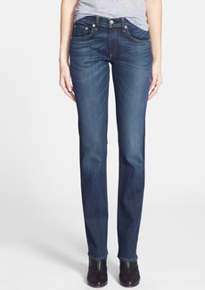 rag & bone/JEAN 'The Cigarette' Mid Rise Straight Leg Jeans (Parliament)