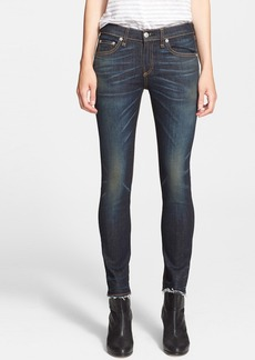 rag & bone/JEAN 'The Crop' Skinny Jeans (Santiago)